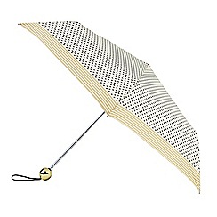 Isotoner - Cream polka dot print umbrella