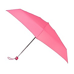 Isotoner - Coral mini flat 5 section umbrella