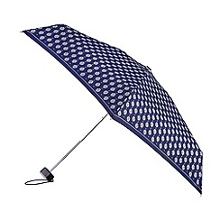 Isotoner - Metallic silver paisley print umbrella