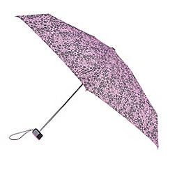 Isotoner - Lilac ditsy print umbrella
