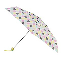 Isotoner - Big paradise dot print umbrella
