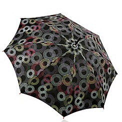 Totes - Black circle print umbrella