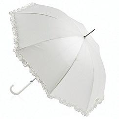 Totes - Ivory 'pearlised wedding walker' umbrella