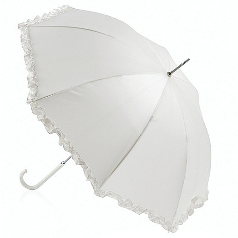 Totes - Ivory +pearlised wedding walker+ umbrella