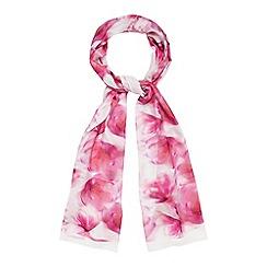 RJR.John Rocha - Pink floral scarf with silk