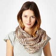 Natural Broken Striped Silk Snood