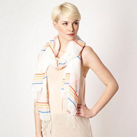 RJR.John Rocha - Designer white colour striped scarf