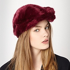 Red Herring - Plum faux fur cap