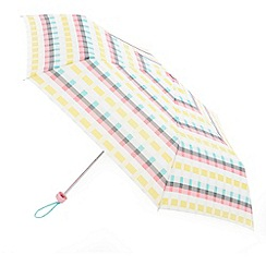 Totes - Yellow overlap checked umbrella