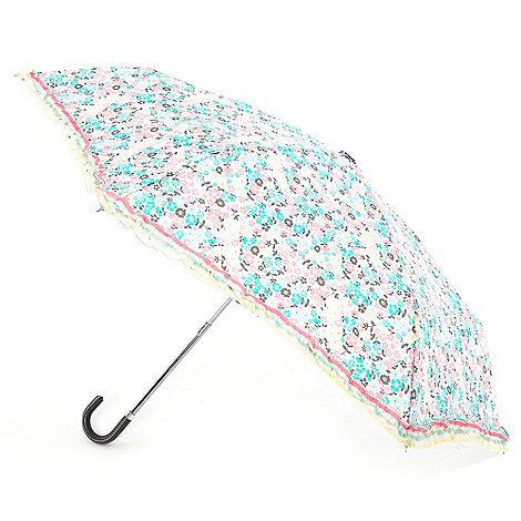 Totes - Pink floral crook handle umbrella