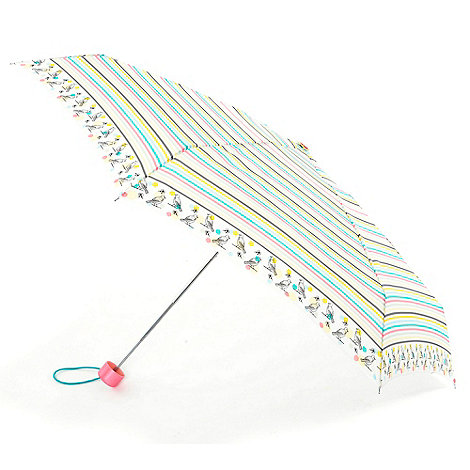 Totes - Yellow striped border umbrella