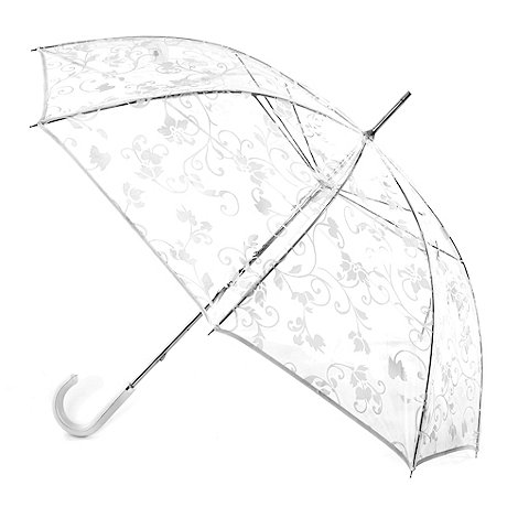 Totes - White floral transparent umbrella
