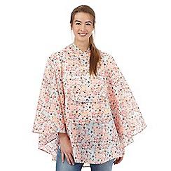 Isotoner - Multi-coloured floral print showerproof poncho