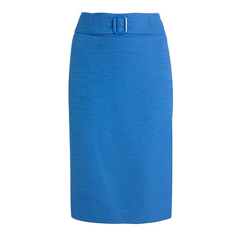 The Collection - Pale blue buckle detail suit pencil skirt