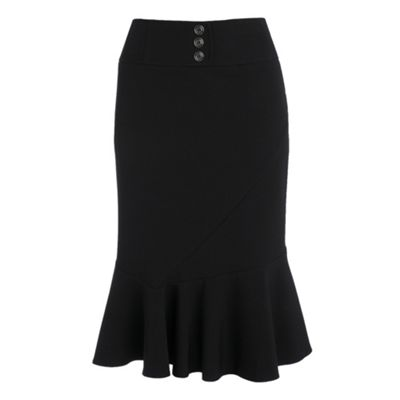 Collection Black frill hem skirt product image
