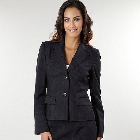 The Collection Grey pinstripe suit jacket | Debenhams