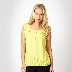 The Collection - Mustard frilly trimmed top