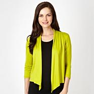 Petite lime pleat back drape cardigan