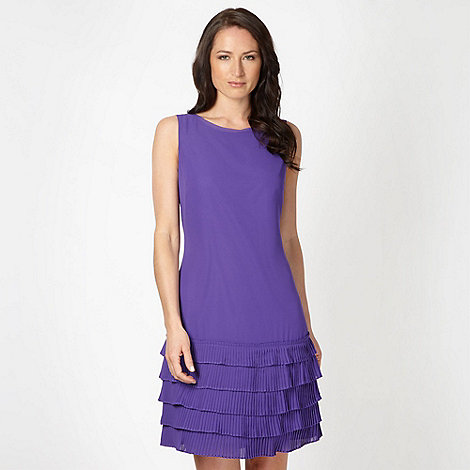The Collection - Online exclusive purple pleated hem cocktail dress