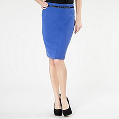 The Collection - Royal blue belted ponte skirt