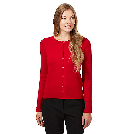 The Collection - Red soft stretch cardigan