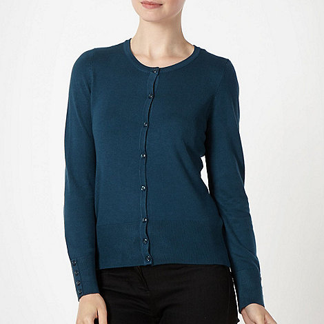 The Collection - Dark turquoise stretch cardigan
