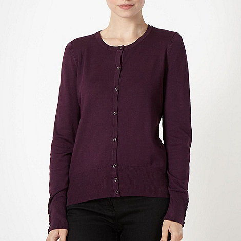 The Collection - Dark purple stretch cardigan