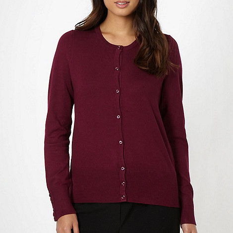 The Collection - Plum crew neck cardigan