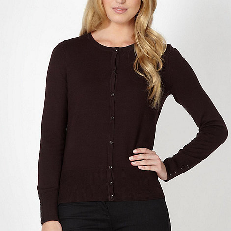 The Collection Petite - Petite chocolate brown stretch cardigan