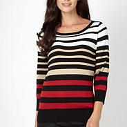Red multi striped jumper