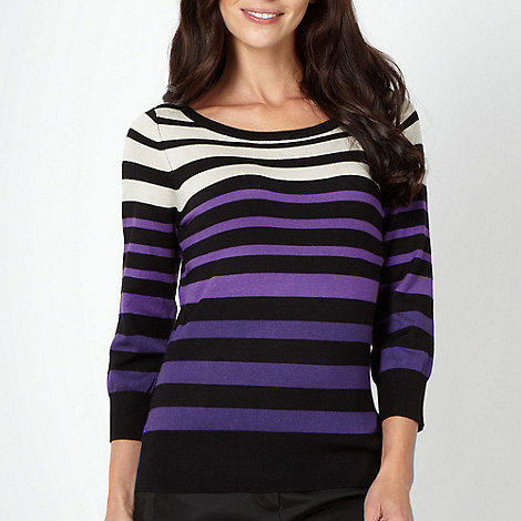 The Collection Petite - Petite purple multi striped jumper