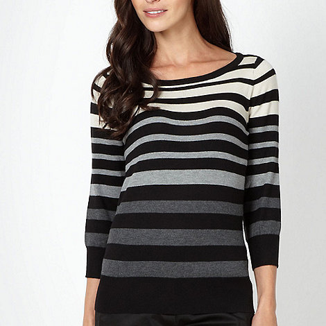 The Collection Petite - Petite grey multi striped jumper