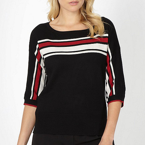 The Collection - Black placement striped jumper