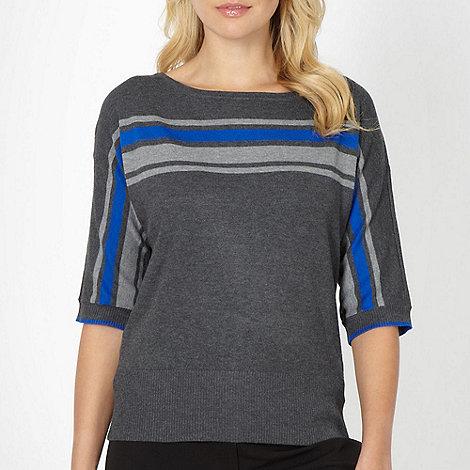The Collection - Dark grey striped jumper