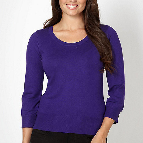 The Collection - Purple scoop neck jumper