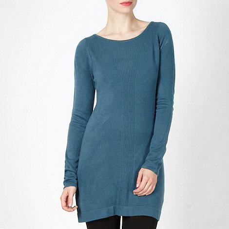 The Collection - Turquoise ribbed front tunic dress