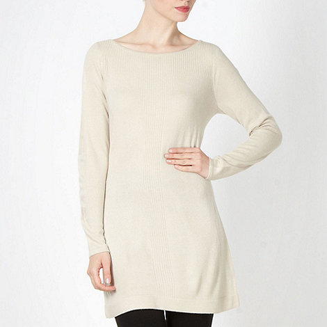 The Collection - Natural ribbed front tunic dress
