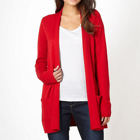 The Collection - Red edge to edge cardigan