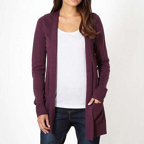 The Collection - Purple edge to edge cardigan