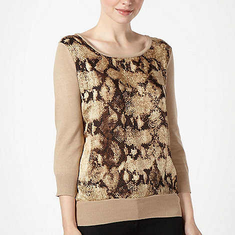 The Collection - Camel fabric front jumper