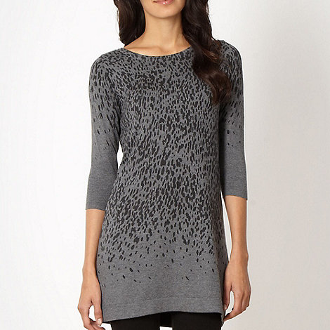 The Collection - Grey animal knit tunic