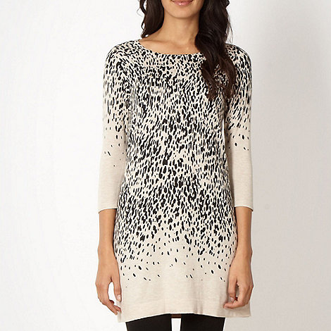 The Collection Petite - Petite natural animal tunic jumper