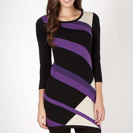 The Collection - Purple intarsia knit tunic