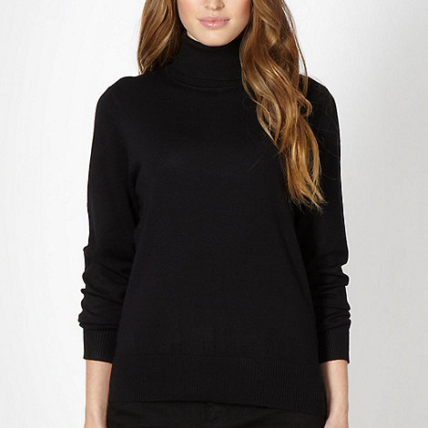 The Collection Petite - Petite black stretch roll neck jumper