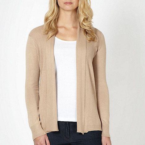 The Collection Petite - Petite camel ribbed edge to edge cardigan