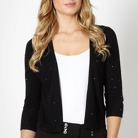 The Collection Petite - Petite black diamante cardigan