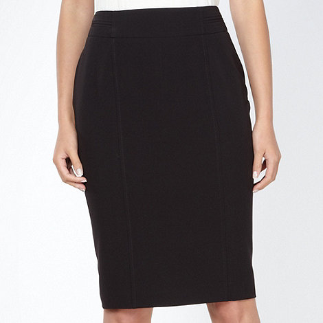 The Collection Petite - Petite black pleat back skirt