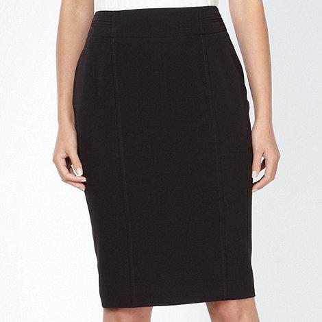 The Collection Petite - Petite black pleat back skirt