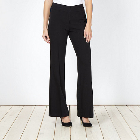 The Collection - Black smart flat front trousers