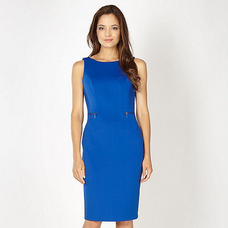 The Collection - Royal blue zip detail dress